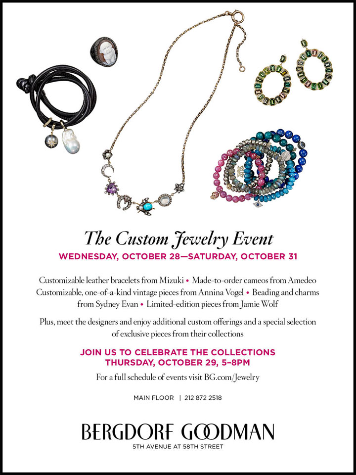 The Custom Jewelry Event at Bergdorf Goodman New York Event