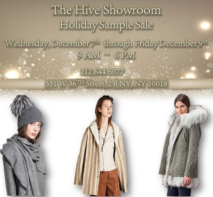 The Hive Showroom Holiday Sample Sale