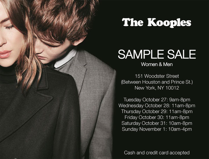 c1f03bc180 The Kooples Clothing & Accessories New York Sample Sale ...