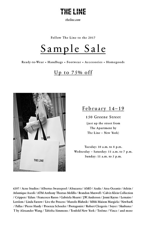 The Line Sample Sale