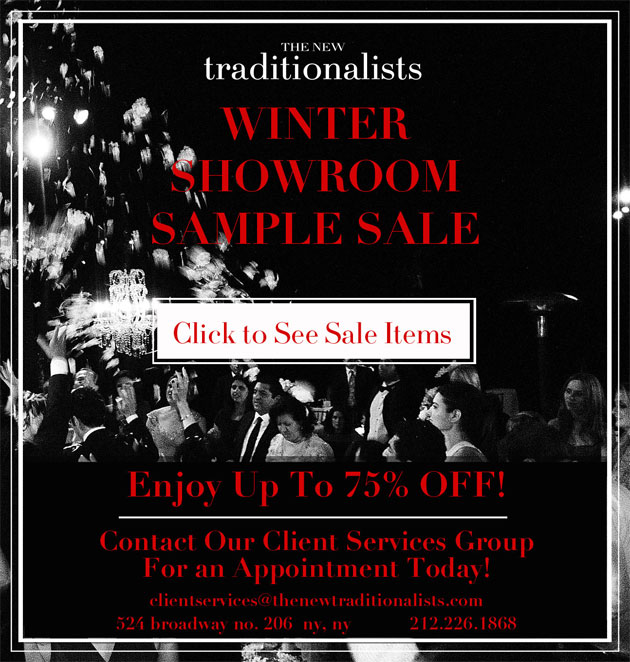 The New Traditionalists Furniture New York Showroom Sample Sale
