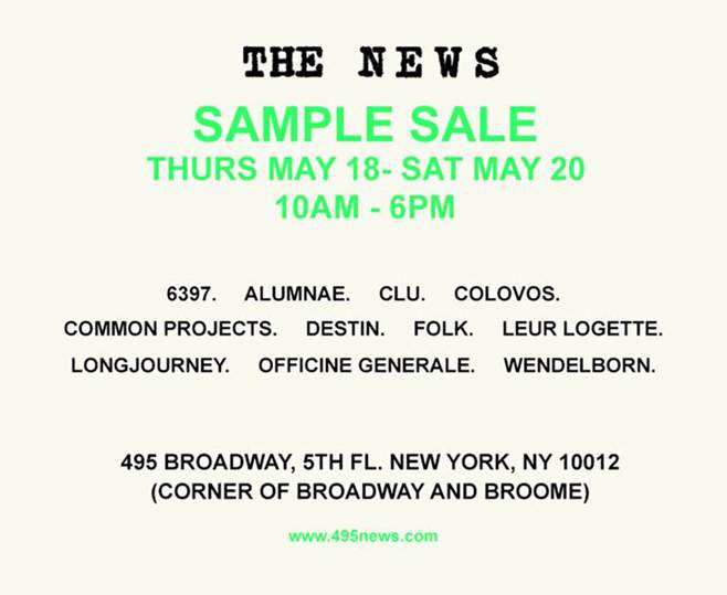 The News Sample Sale