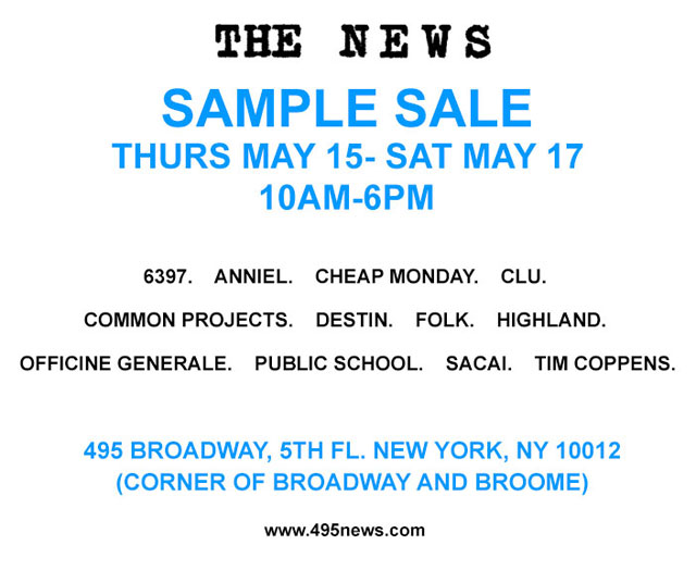 The News Spring 2014 Sample Sale