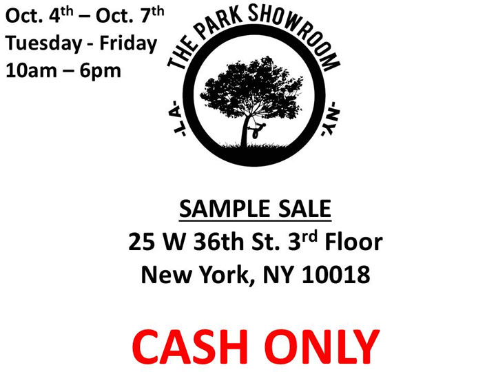 The Park Showroom Sample Sale