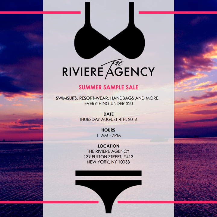 The Riviere Agency Summer Sample Sale