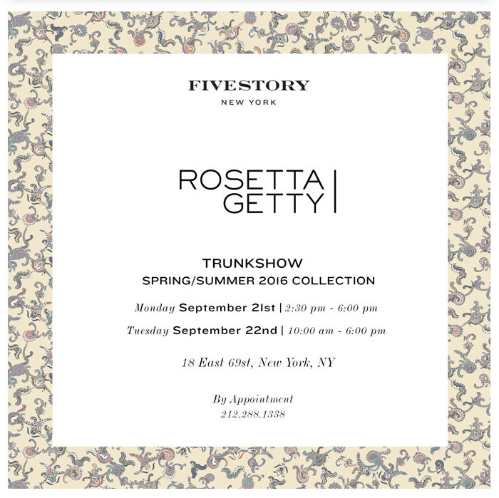 The Rosetta Getty SS16 Trunk Show