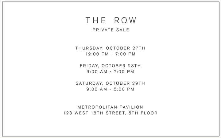 The Row Private Sale