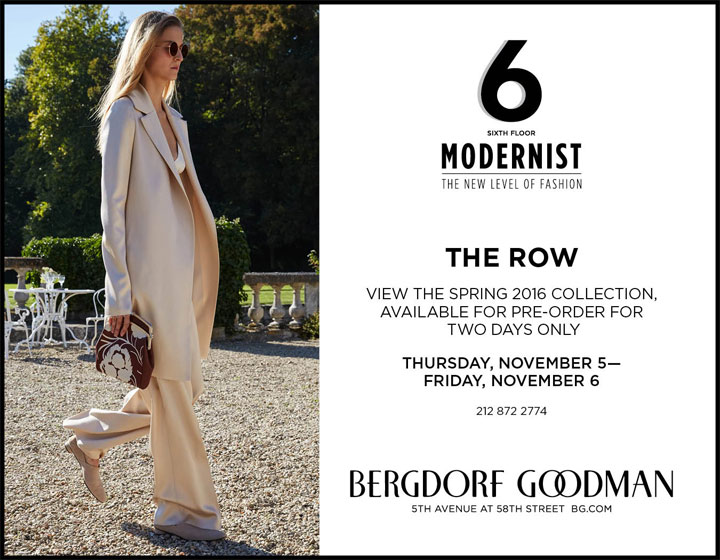 The Row Spring 2016 Trunk Show