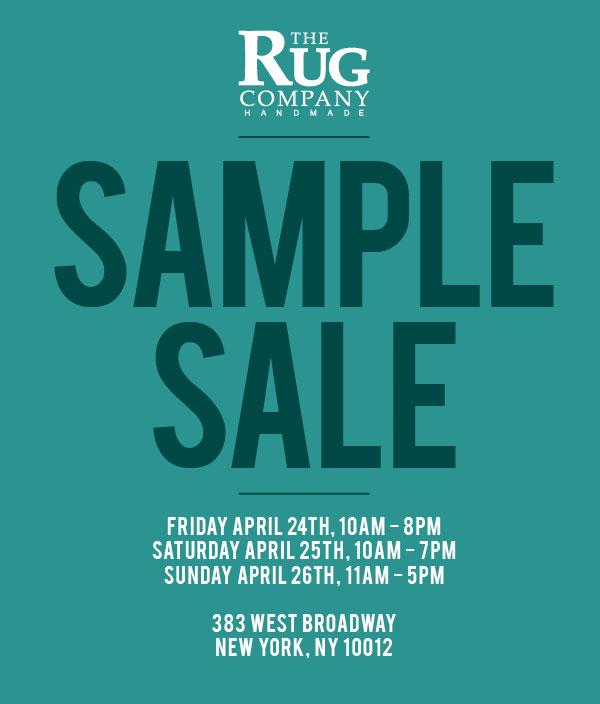 The Rug Company Sample Sale