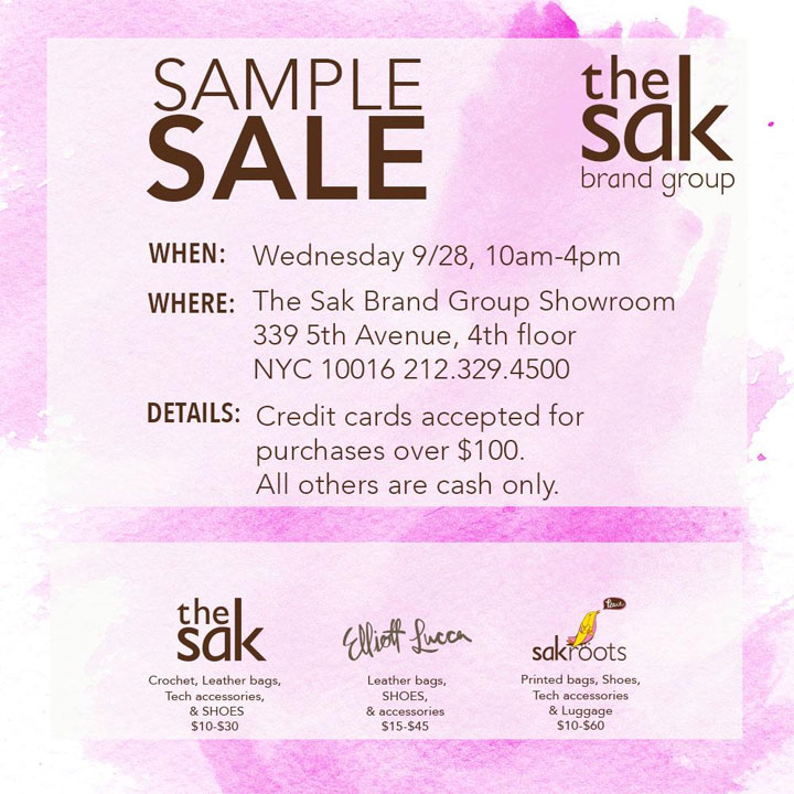 The Sak Brand Group Sample Sale