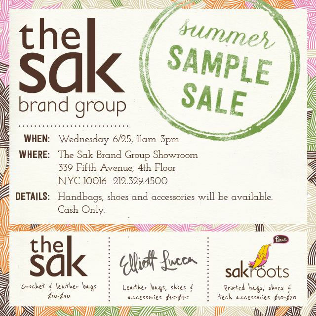 The Sak Brand Group Summer Sample Sale