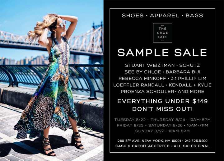 The Shoe Box Sample Sale