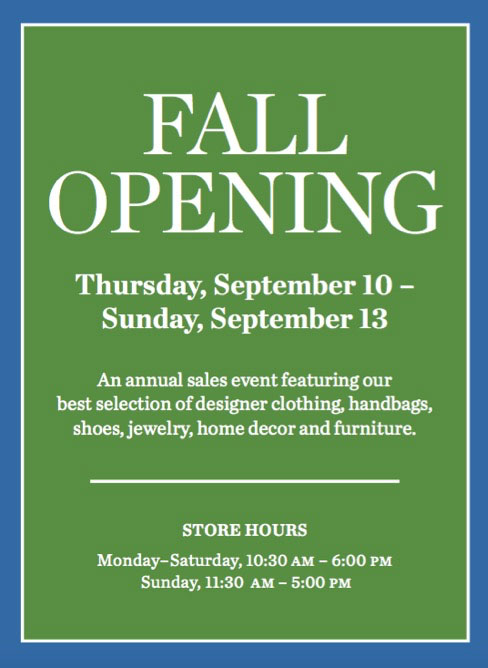 The Society Boutique Fall Opening Sale