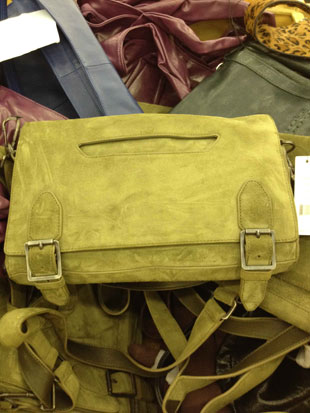 Theyskens' Theory Axel Messenger Bag in Pine ($695)