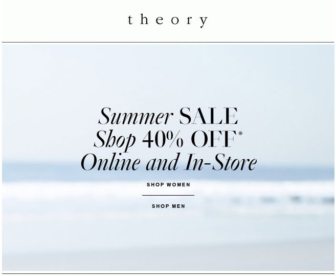 Theory Summer Retail Sale