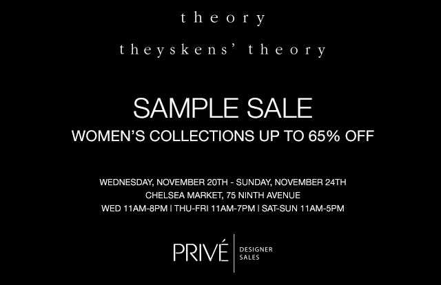 Theory & Theyskens' Theory Sample Sale