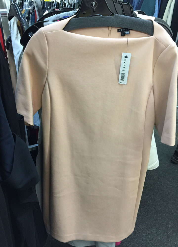 Theory dress, $70. Original price tag $260.