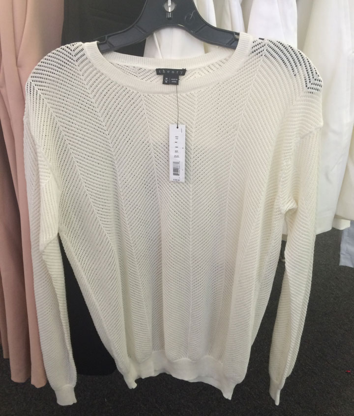 Theory knit top for $50