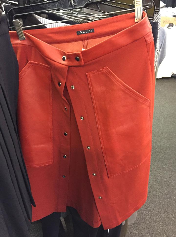 Theory skirt, $50.