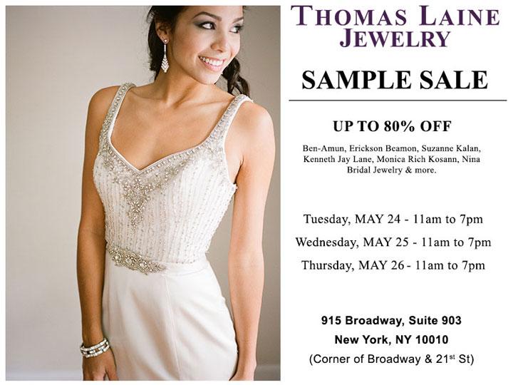 Thomas Laine Spring Sample Sale