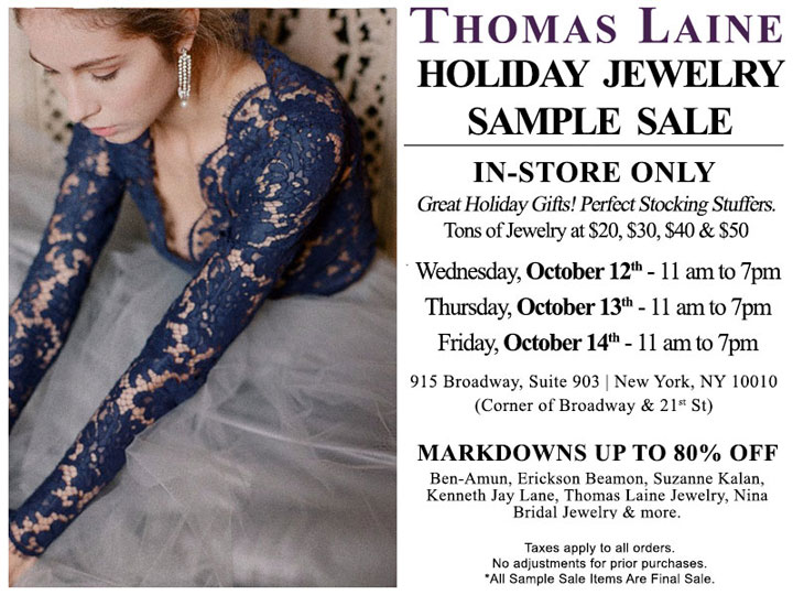 Thomas Laine Jewelry Clearance Sample Sale