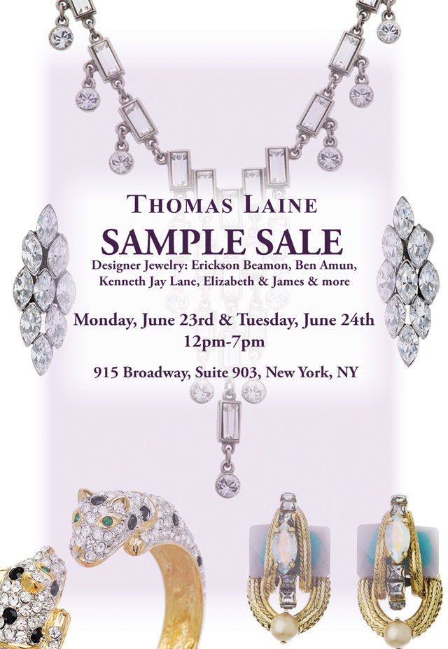 Thomas Laine Sample Sale