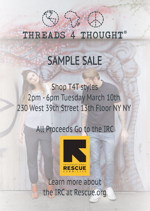 Threads for Thought Charitable Sample Sale
