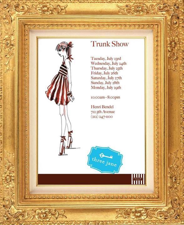 Three Jane Summer Trunk Show at Henri Bendel