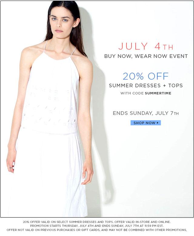 Tibi 4th of July Sale
