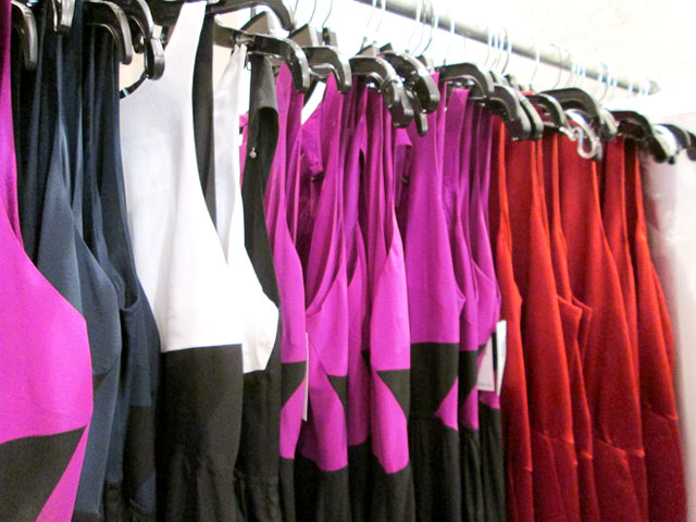 Racks upon racks of dresses, with occasion wear for $100 or less