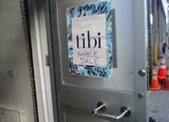 Tibi Sample Sale Entrance