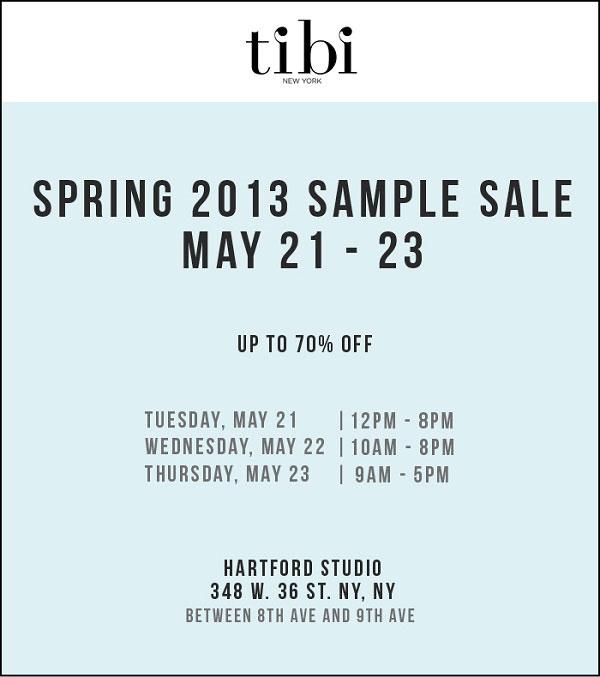 Tibi Spring 2013 Sample Sale