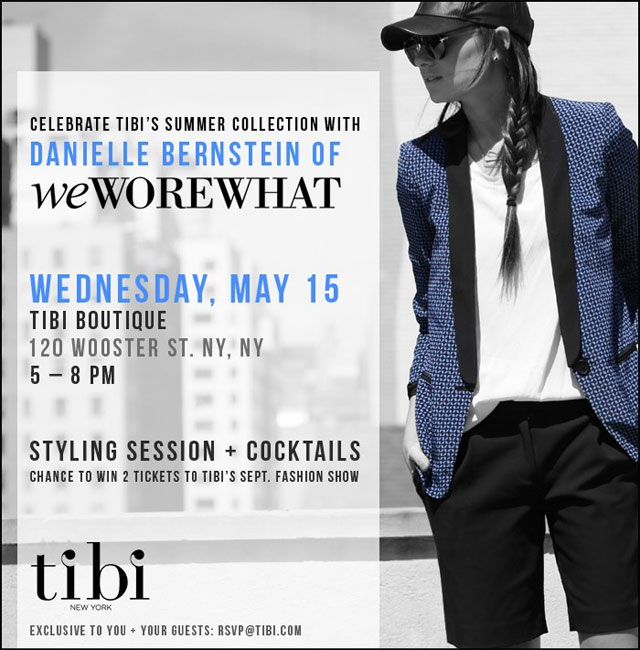 Tibi + We Wore What? Styling Event