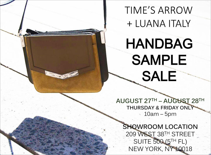 Time's Arrow + Luana Italy Handbag Sample Sale