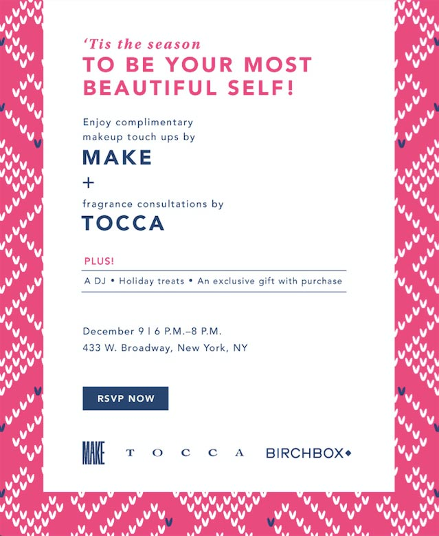 Birchbox: Tis' the Season to Shop Event