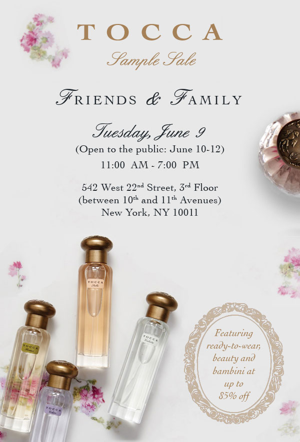 Tocca Clothing & Beauty New York Winter Sample Sale ...