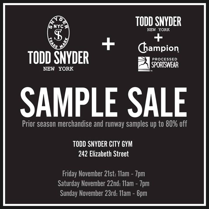 Todd Snyder Sample Sale