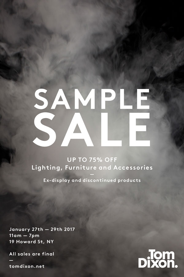Tom Dixon Sample Sale