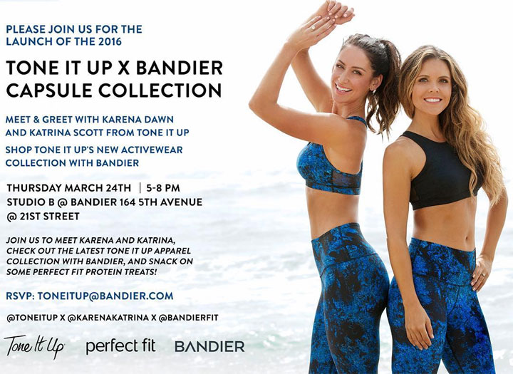 Tone It Up X Bandier Capsule Collection Launch Event