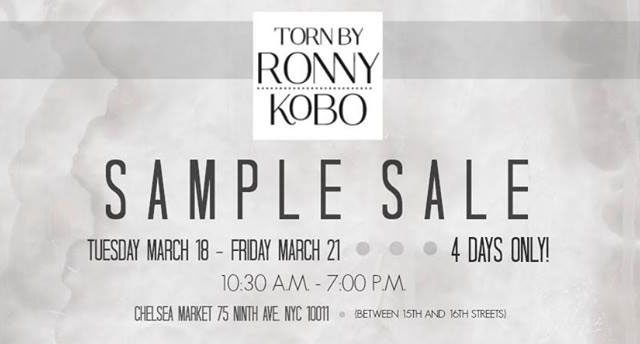 Torn by Ronny Kobo Sample Sale