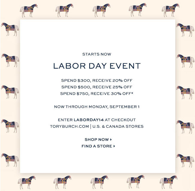 Tory Burch Labor Day Event