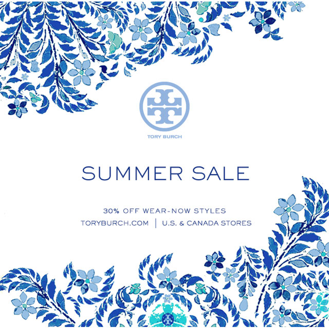 Tory Burch Summer Retail Sale