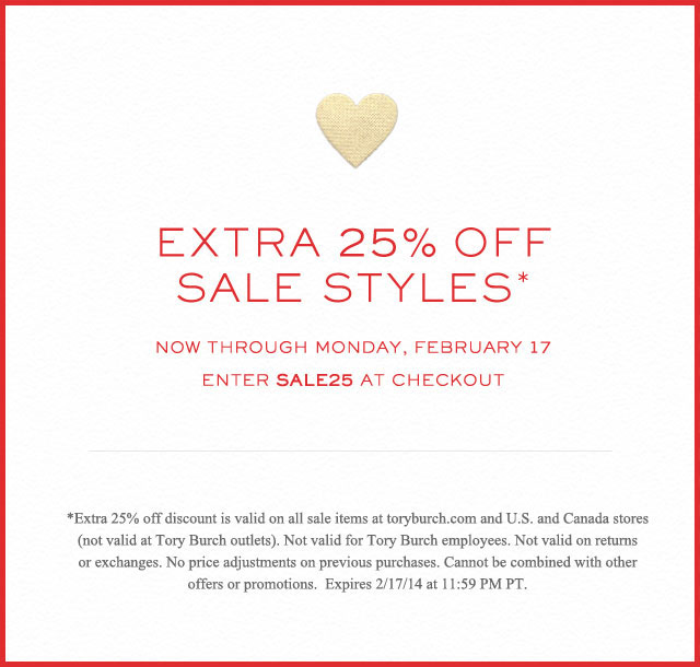 Tory Burch Valentine's Day Sale