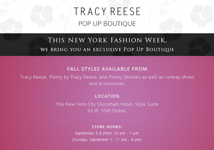 Tracy Reese Pop Up Boutique