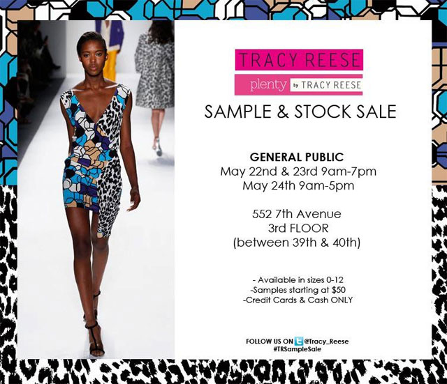 Tracy Reese Stock & Sample Sale