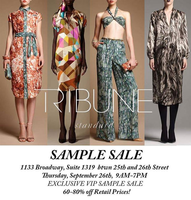 Tribune Standard Sample Sale