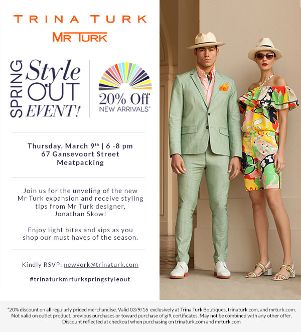 Trina Turk Spring Style Out Event