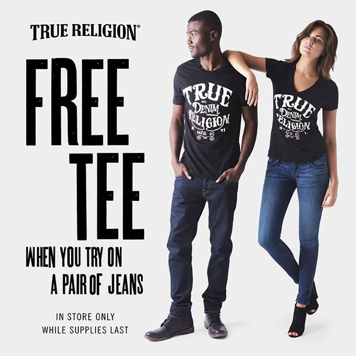 Get a FREE TEE at True Religion