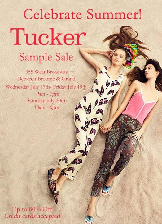 Tucker Sample Sale