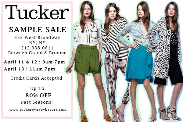 Tucker by Gaby Basora Sample Sale